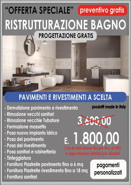 Offerta Ristrutturazione Bagno € 3.600,00  Centro Servizi Edili